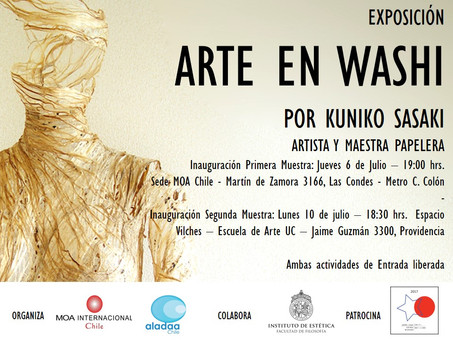 Información de actividades relacionadas con las visitas de los artistas Ronald Nakasone y Kuniko Sas