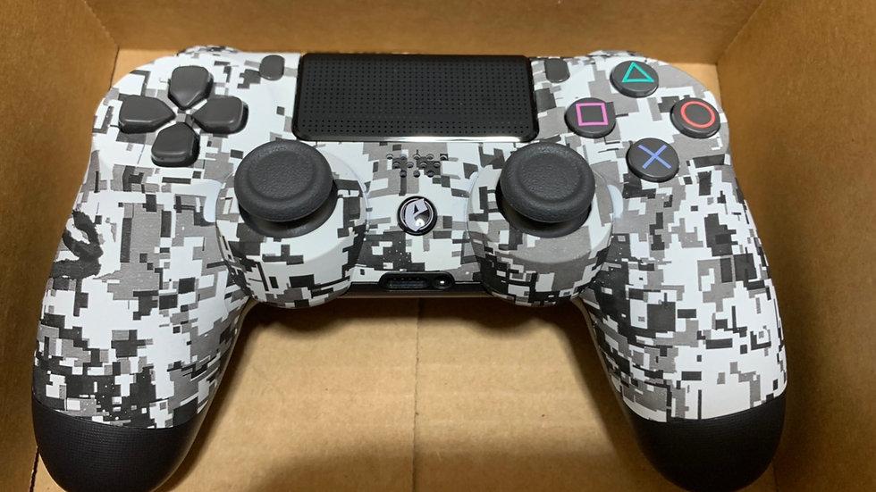 中古品 エビル コントローラー ボタンタイプ リマッピング 純正スティック PS4 到着3日間のみ対応 アーバンホワイトの複製