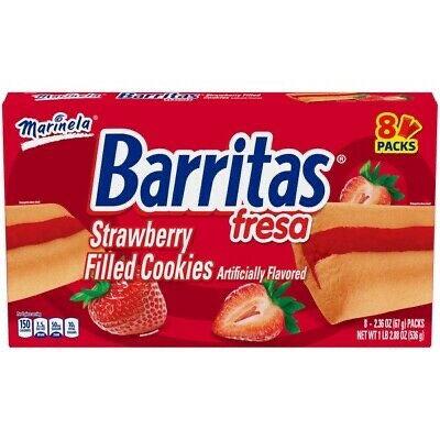 Barritas Marinela Fresa - Strawberry Bars 8 Packs