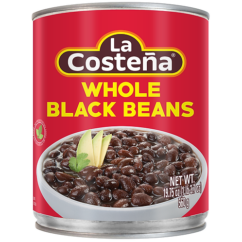 La Costeña black whole beans