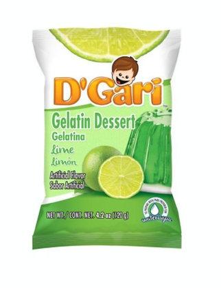 D' Gari Lime Gelatin Dessert