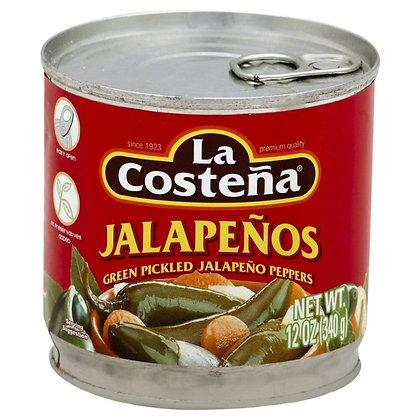 La Costeña Jalapeño Whole 12 Oz