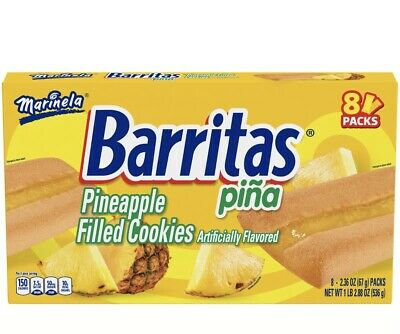 Barritas Marinela Piña - Pineapple Bars 8 Packs
