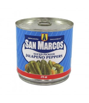 San Marcos Chile Jalapeño - Sliced Pickled 375 ml
