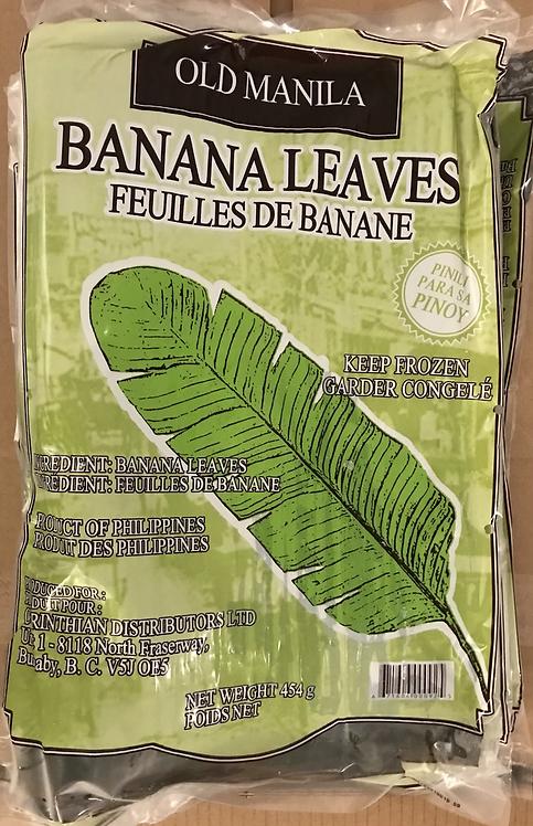Banana leaves 450 gr (Frozen Product)