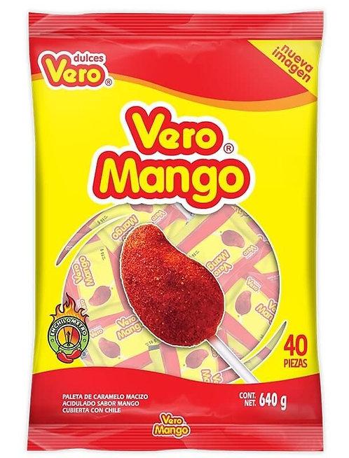 Mango lollipop bag with 40 pieces
