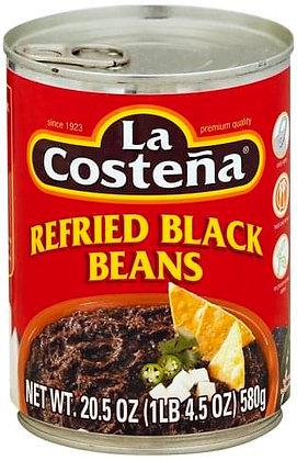La Costeña Black Refried Beans 19 Oz