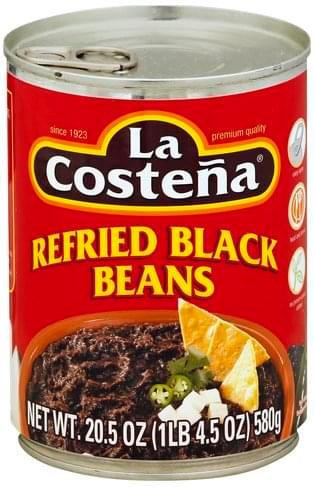 La Costeña black refried beans