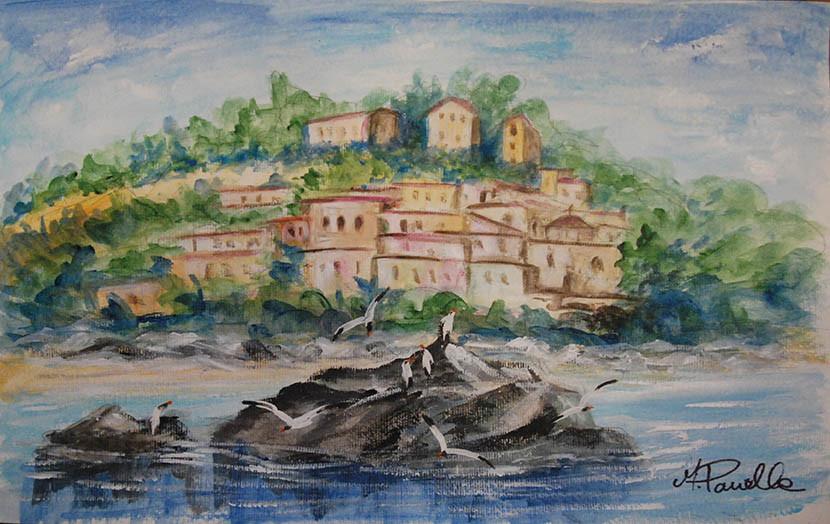 Il borgo visto dal mare
