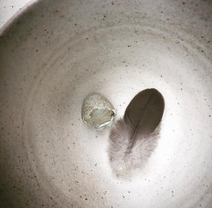 Speckled White Thrown Bowl