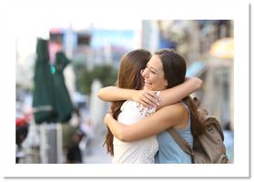 Tänk dig att du möter en vän på stan! (En liten story om brist på mål...)