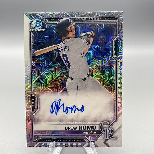 2021 Bowman Mojo - Drew Romo Autograph #BMA-DR