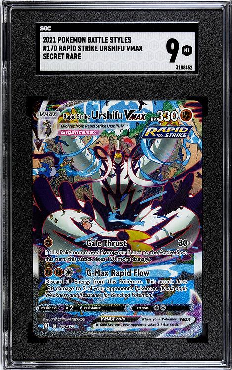 SGC 9 Mint - Pokémon Single Strike Urshifu VMAX Secret Rare #170