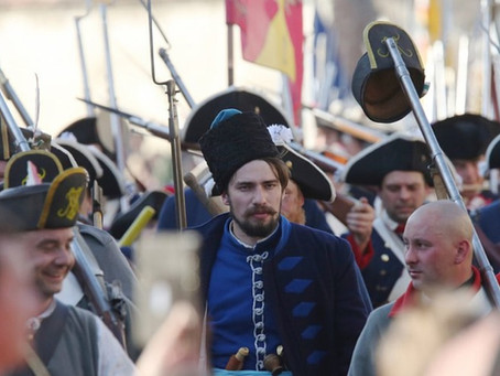 Наши казаки на реконструкции баталий Семилетней войны!