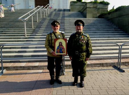 Донской казак Лаврентий Коваленко написал четыре иконы для Балтийского Союза казаков.
