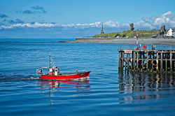 Approaching Aberystwyth Harbour