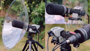 Mounting a Telinga Parabolic Microphone on a Camera Tripod