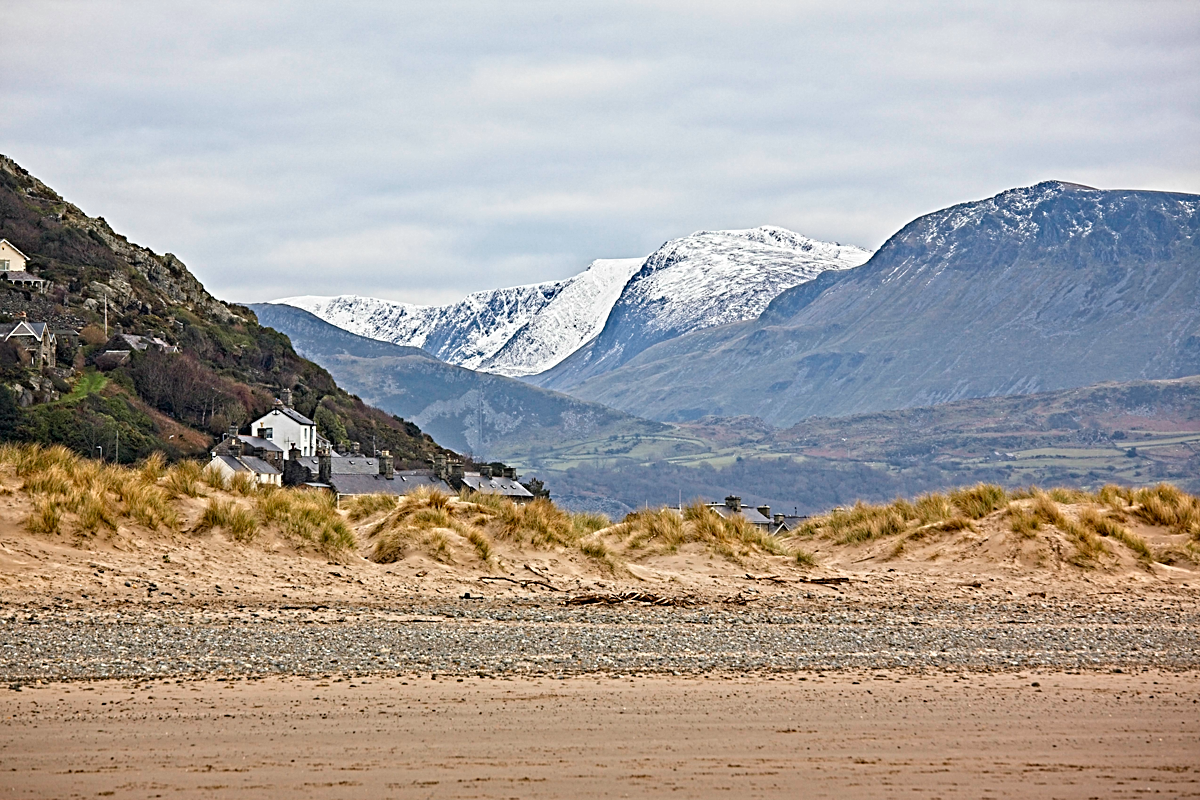 Mountains Behind Barmouth Beach