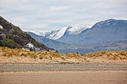 Mountains Behind Barmouth Beach