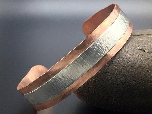 Copper Bracelet w/ Sterling Overlay