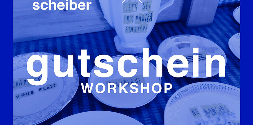 WORKSHOP: PIMP YOUR PORCELLAIN! – 1 Platz im Workshop