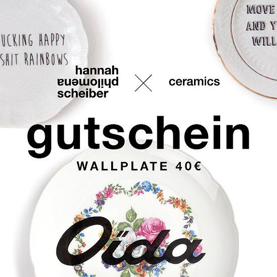 SELF-PRINT GUTSCHEIN WALLPLATE