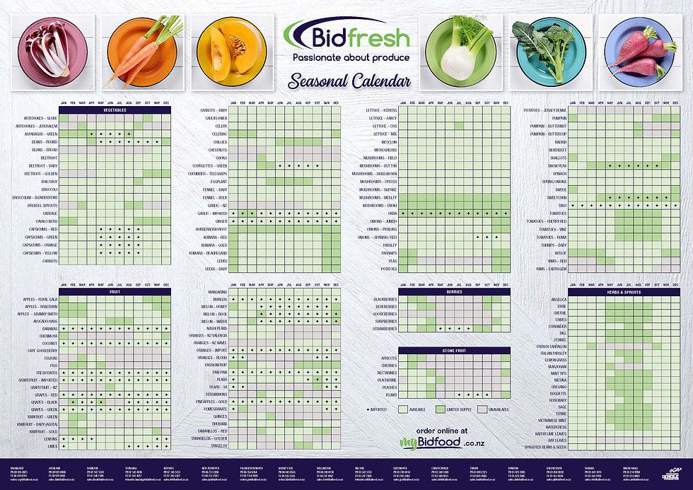 Bidfresh Seasonal Calendar