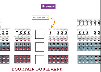 AWP 2020 Bookfair Location WTAW Press