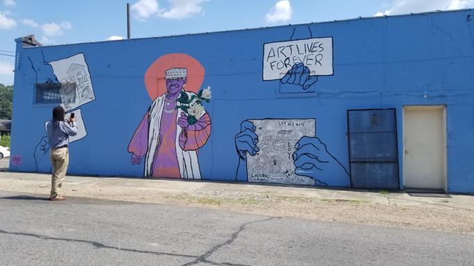 Mural of Ms. Sadie
