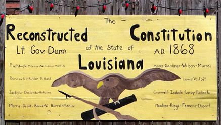Mural of Reconstructed Constitution of Louisiana