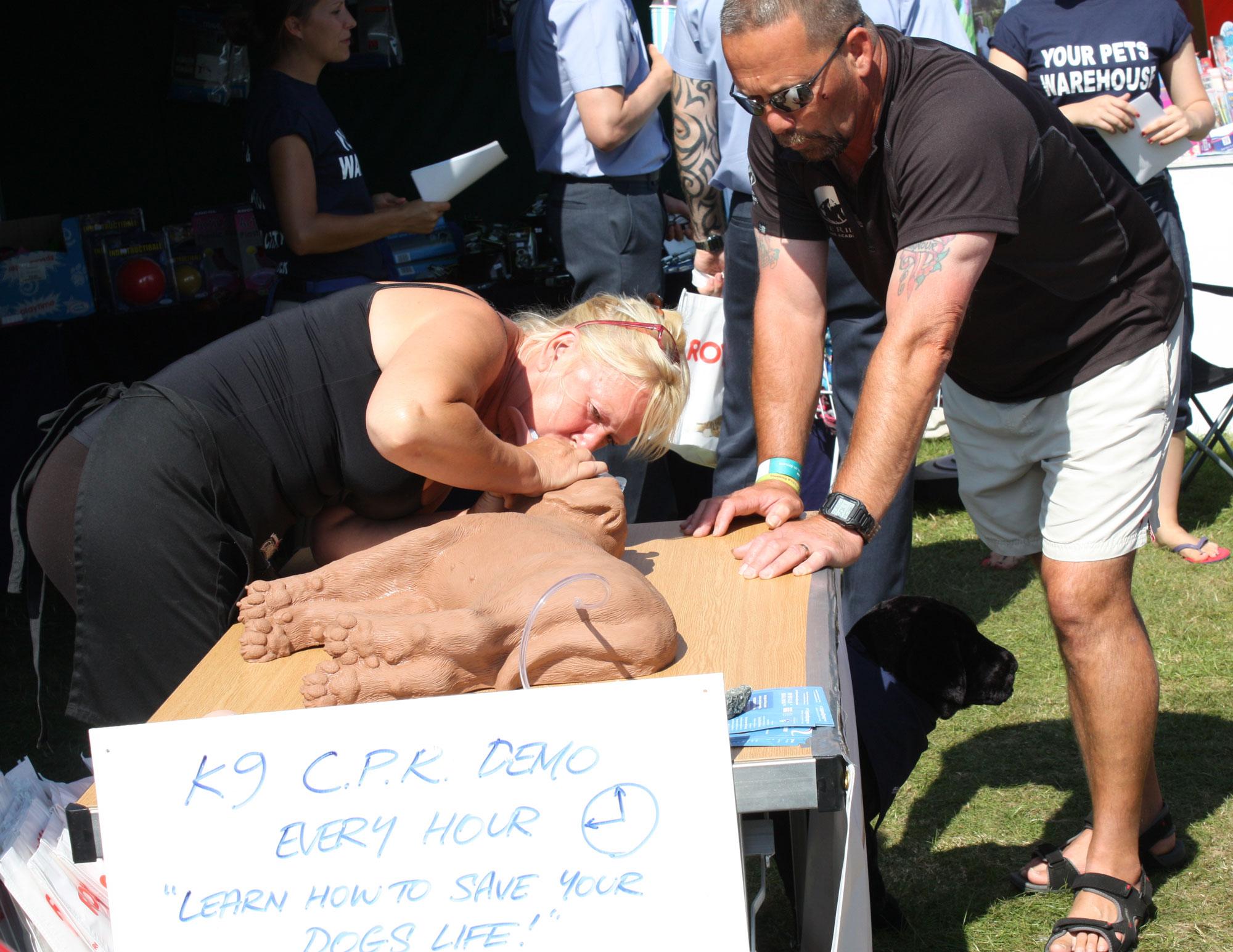 Practical K9 CPR Demonstraton