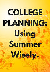 College Planning_Using Summer Wisely..jp