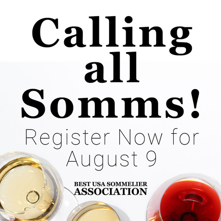 Best USA Sommelier Association Opens Registration for August 9 Competition & Adds New Board Members