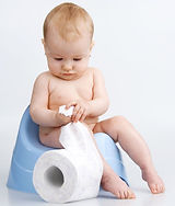 baby potty training after using cloth diapers