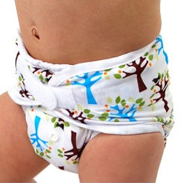 cloth diaper cover tree pattern