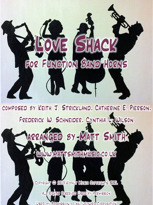 Love Shack by The B-52's - Function Band Horn Section