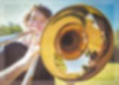 Trombone close up