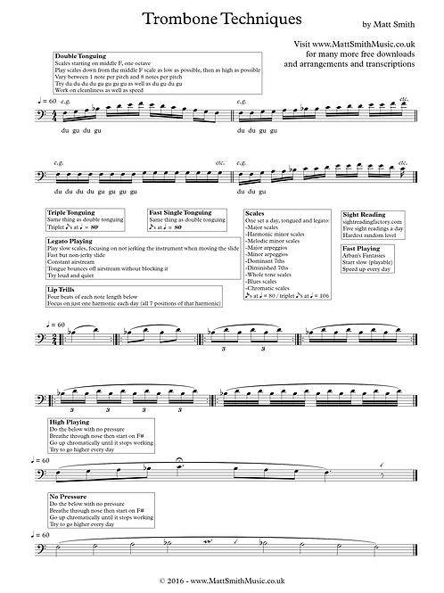 Trombone Techniques