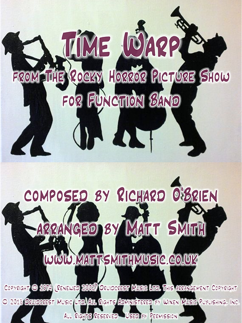 Time Warp from The Rocky Horror Picture Show - Function Band with Horn Section