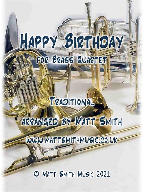 Happy Birthday - Brass Quartet/Quintet