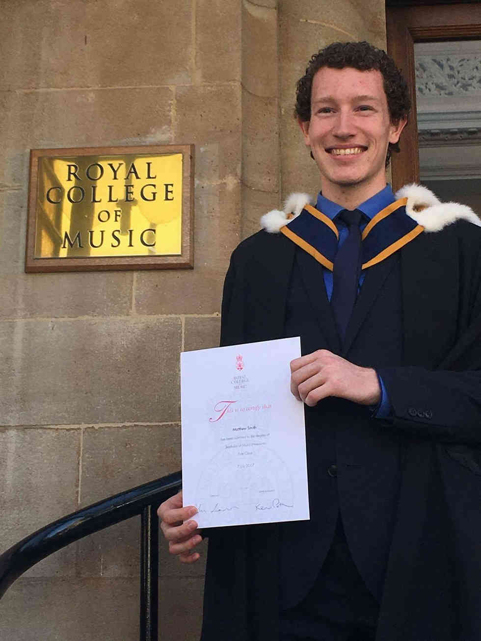 Graduating from the Royal College of Music