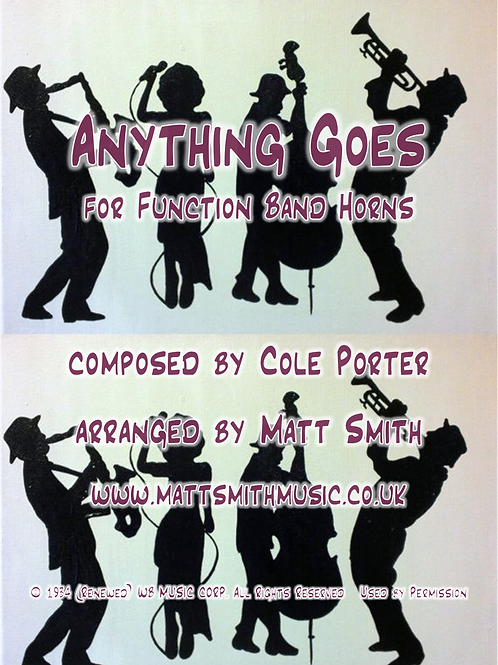 Anything Goes by Cole Porter - Function Band Horn Section