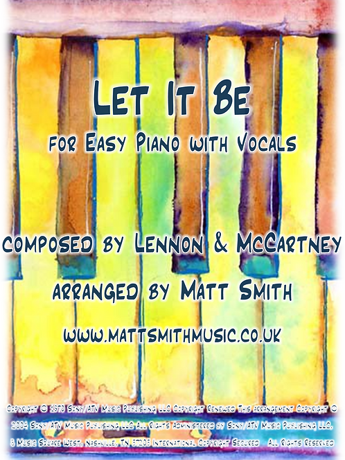 Let It Be by Lennon & McCartney - Easy Piano with Vocals