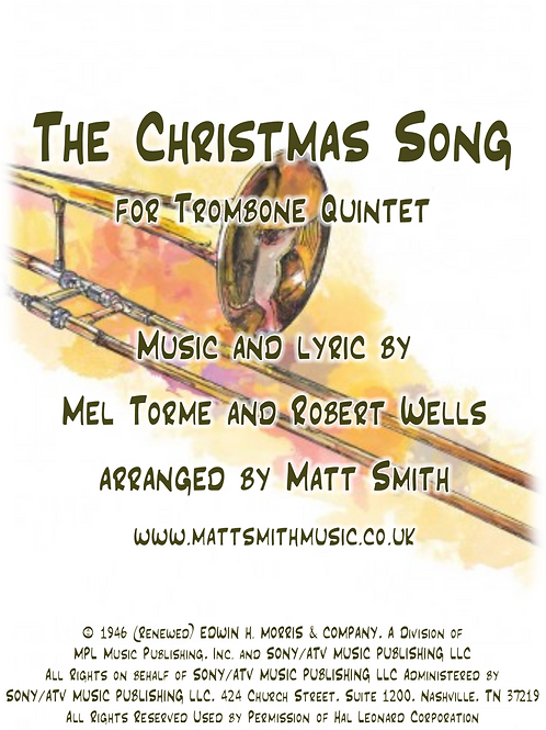 The Christmas Song by Torme and Wells - Trombone Quintet