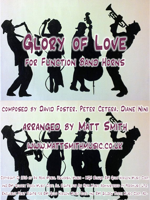 Glory of Love by Peter Cetera - Function Band Horn Section