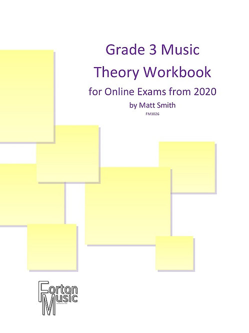Grade 3 Music Theory Workbook by Matt Smith - PDF VERSION