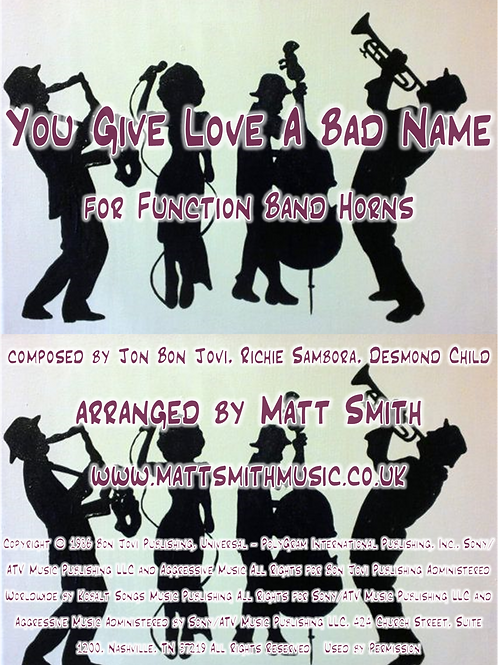 You Give Love A Bad Name by Jon Bon Jovi - Function Band Horn Section