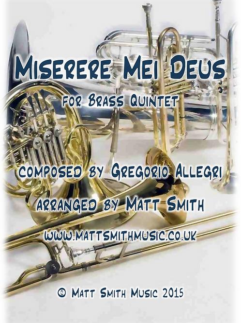 Miserere Mei Deus by Gregorio Allegri - Brass Quintet