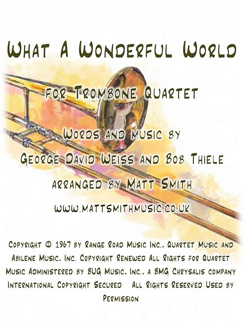What A Wonderful World - Trombone Quartet