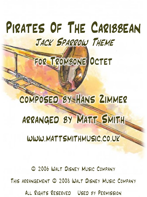 Pirates of The Caribbean - Jack Sparrow Theme - Trombone Octet
